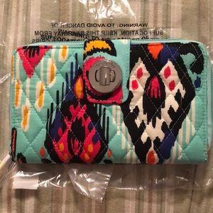 Vera Bradley Turnlock Wallet Pueblo